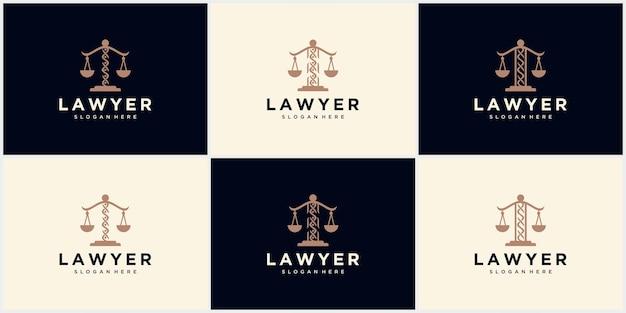 Logo du cabinet d'avocats, cabinet d'avocats, service d'avocats, logo d'emblème vintage de luxe, modèle de logo vectoriel de conception de logo de cabinet d'avocats. pilier avec conception de vecteur de bouclier. modèle de conception d'illustration