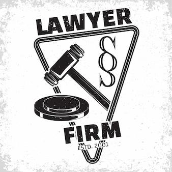 Logo du cabinet d'avocats emblème de l'agence d'avocat ou du notaire