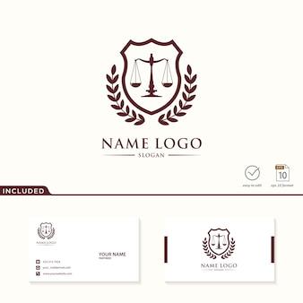 Logo du cabinet d'avocats inclus carte de visite