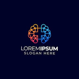 Logo du cerveau médical