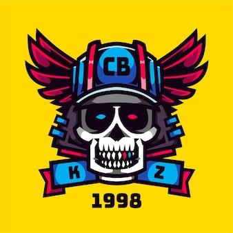 Logo du club de cavalier de crâne