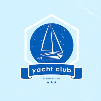 Logo du club de yacht. illustration.