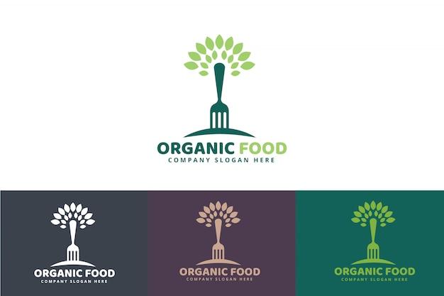 Logo du concept d'aliments biologiques