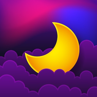 Logo du concept de nuit