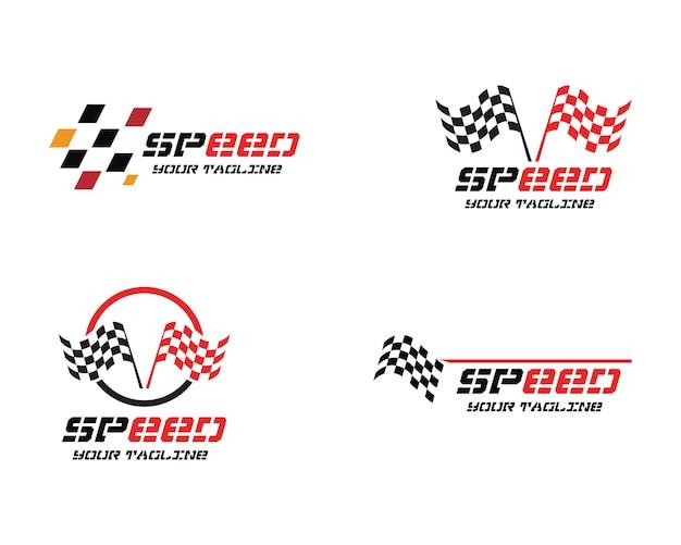 Logo du drapeau de course