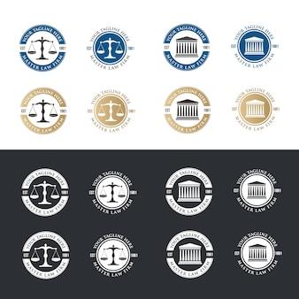 Logo du logo juridique de l'icône. ensemble de logo de l'avocat