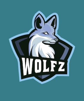Logo du loup gris