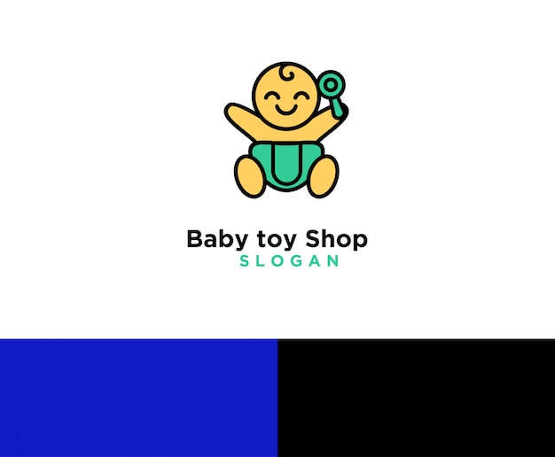 Logo du magasin de jouets pour bébé