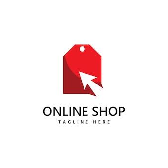 Logo du magasin de sac à provisions. création de logo d'achat en ligne
