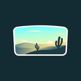 Logo du paysage du lever du soleil
