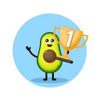Logo du personnage de la mascotte avocado champion's cup