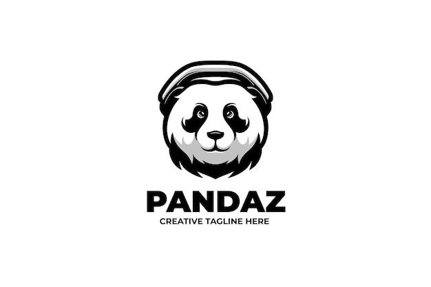 Le logo du personnage mascotte panda