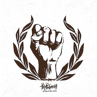 Logo du poing de la révolution de la propagande
