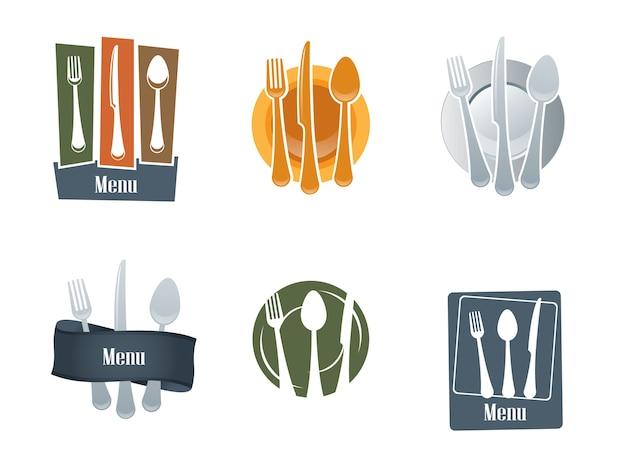 Logo du restaurant avec cuillère et une fourchette
