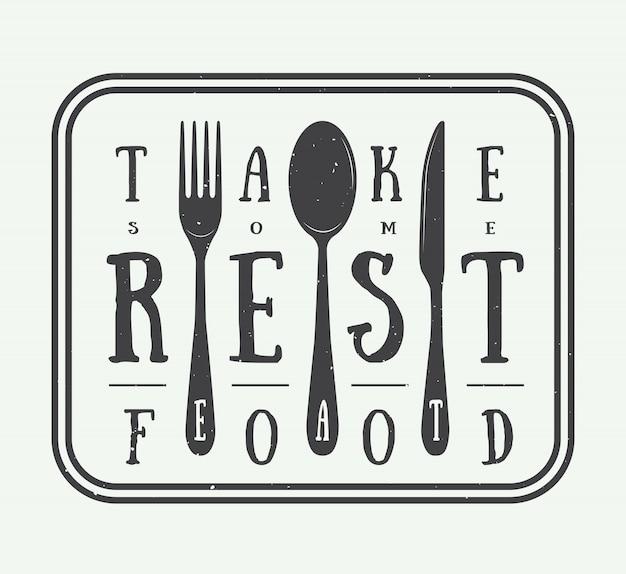Logo du restaurant vintage