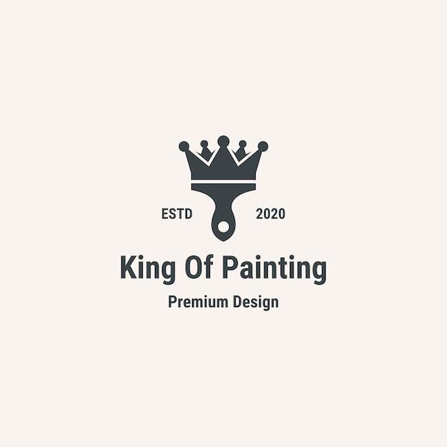 Logo du roi de la peinture. logo de style vintage.