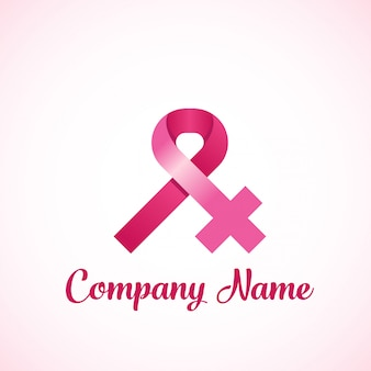 Logo du ruban du cancer du sein chez les femmes