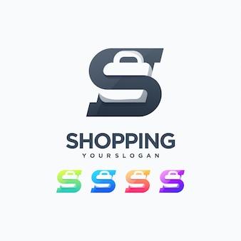 Logo du sac shopping prêt à l'emploi