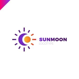 Logo du soleil et de la lune. illustration abstraite
