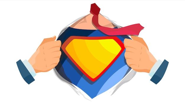 Logo du super-héros. jaune, bouclier rouge.
