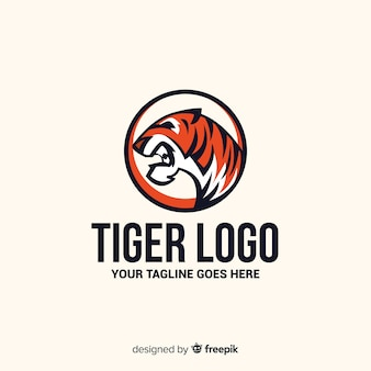 Logo du tigre rugissant