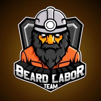 Logo du travail de la barbe