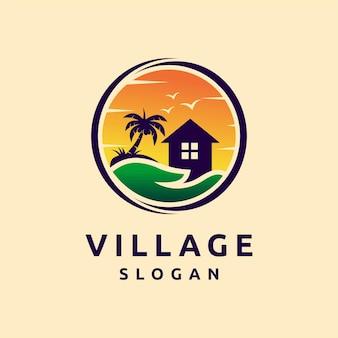 Logo du village avec le concept de préoccupation