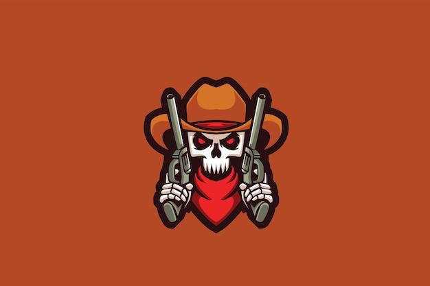 Logo dual sports skeleton e sports