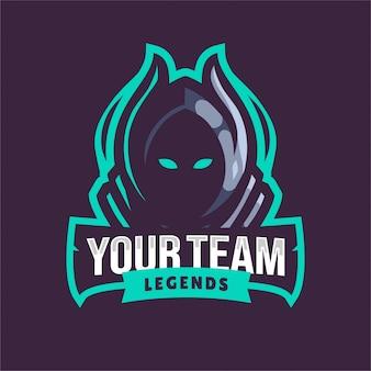 Logo e-sport blue grim reaper