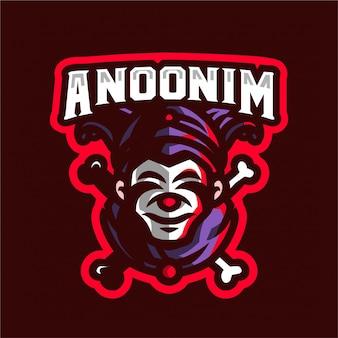 Logo e-sport clown