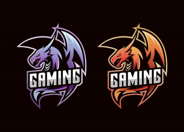 Logo e-sport de jeu de logo de dragon