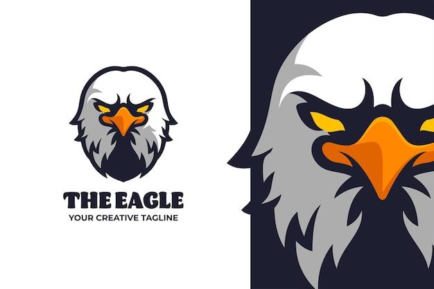 Logo e-sport mobile tête d'aigle