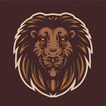 Logo e-sport tête de lion
