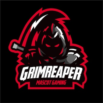 Logo e-sports dark grim reaper