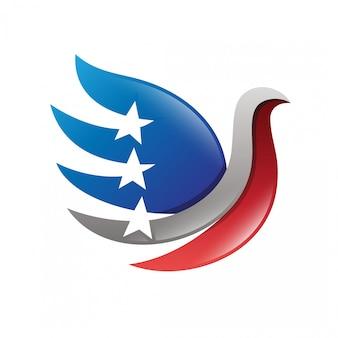 Logo eagle blue star