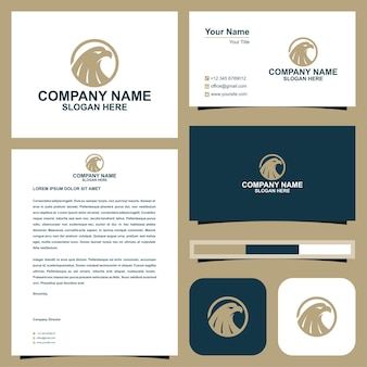 Logo eagle et carte de visite premium