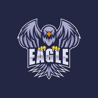Logo eagle e sport et style sportif.