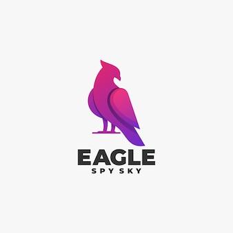 Logo eagle gradient colorful