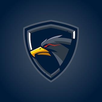 Logo eagle shield esports