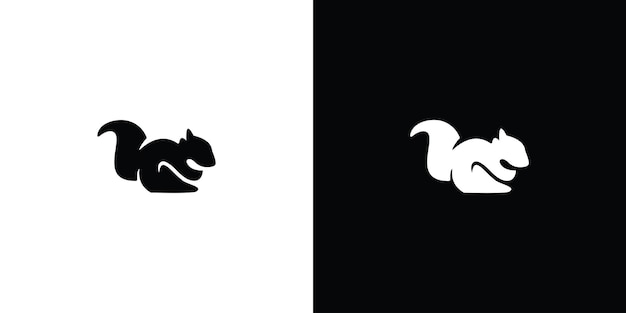 Logo d'écureuil silhouette vecteur premium