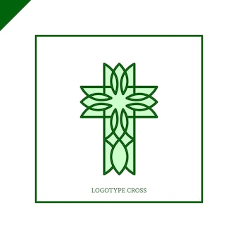Logo de l'église. symboles chrétiens. la croix de jésus.