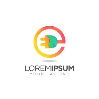 Logo électrique e moderne