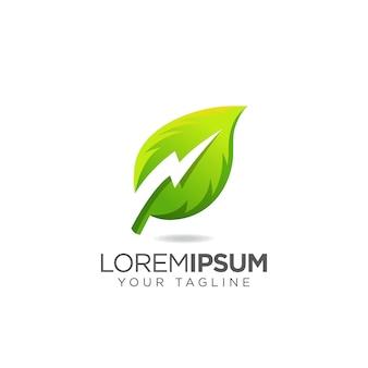 Logo électrique thunder leaf