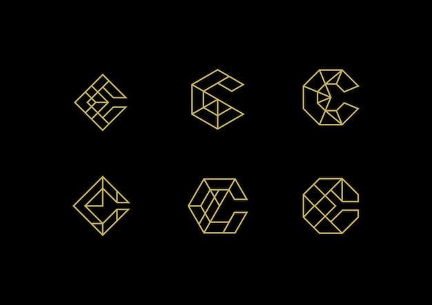 Logo élégant de la lettre c de luxe