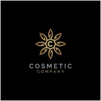 Logo de l'élégant luxe luxe golden star flower mandala