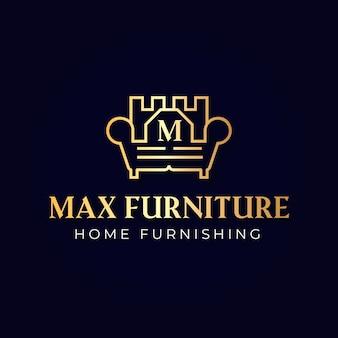Logo élégant de meubles dorés