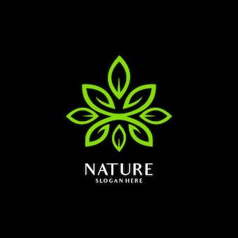 Logo d'élément nature feuille verte écologie