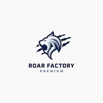 Logo emblématique du lion rugissant.