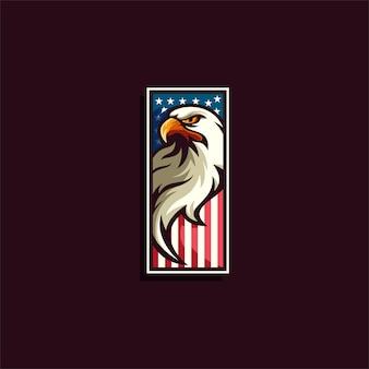 Logo emblème aigle usa