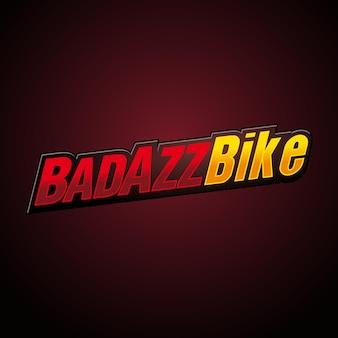 Logo de l'emblème badazz biker ride